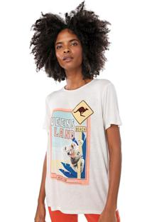 Camiseta Lez A Lez Estampada Off-White - Off White - Feminino - Viscose - Dafiti