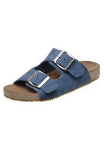 Sandália Birken Feminina 3Ls3 Couro Azul