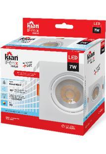 Luminária Spot Kian Par20 Quadrado Led Fênix Ii Alt: 5,2Cm Comp.: 11,7Cm Larg: 11,7Cm 7W 6000K Branca.