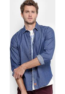 Camisa Reserva Regular Fit Stone Masculina - Masculino-Jeans