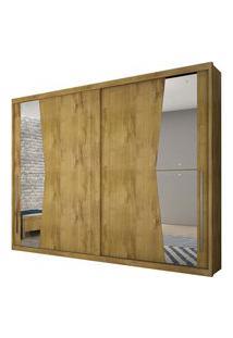 Guarda Roupa Novo Horizonte Geom C/Espelho 2 Portas Freijo Dourado