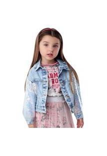 Jaqueta Ml Charming Roses Jeans Petit Cherie 3 Azul
