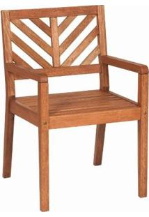 Cadeira Em Madeira Com Braços Eko 47,2 X 53,6 Cm Stain Jatobá - Mestra Móveis