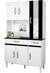 Cozinha Compacta Sampaio 6 Pt E 2 Gv Branco E Preto