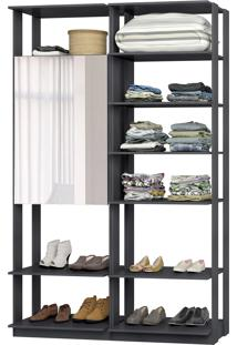Closet Modulado Be Mobiliário Clothes Armário Com Espelho