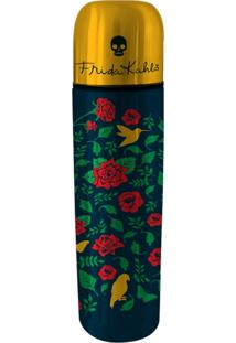 Garrafa Térmica Em Inox Preta 500Ml Frida Kahlo Urban