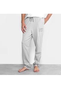 Calça Pijama Calvin Klein Cotton Masculina - Masculino-Mescla