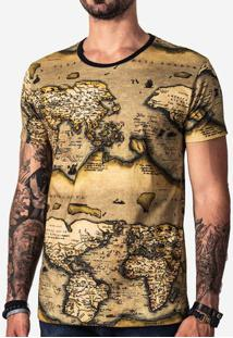 T-Shir Vintage Map 101684