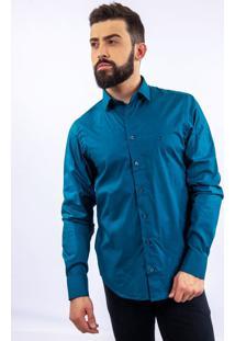 Camisa Lupim Slim Fit Turquesa