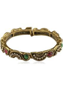 Bracelete Le Diamond Acqua Multicolorido Dourado