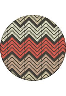 Tapete Love Decor Redondo Wevans Chevron Modern Multicolorido 84Cm