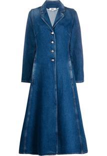 Mm6 Maison Margiela Casaco Jeans Com Abotoamento Simples - Azul