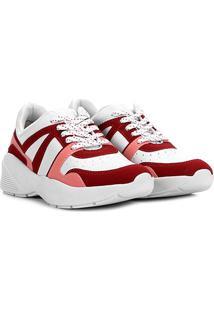 Tênis Ramarim Sneacker Chunky Feminino - Feminino-Vermelho+Branco