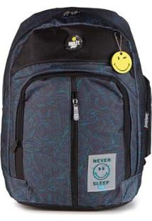 Mochila Gosuper Adventure Casual Com Porta Notebook Escolar Universitaria Smiley - Masculino-Preto
