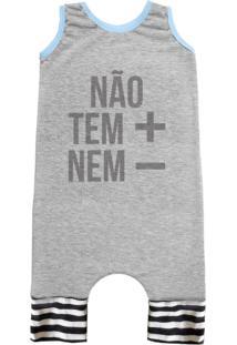 Pijama Regata Comfy Não Tem + Nem - Cinza