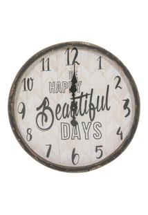 Relógio Decorativo De Parede Happy Days - Unissex