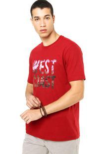 Camiseta West Coast Tag Vermelha