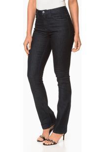 Calça Jeans Five Pockets Straight High - Marinho - 46