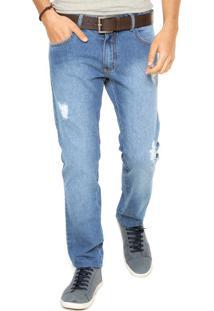 Calça Jeans Reta Sommer Matheus Azul