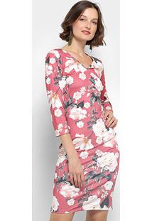 Vestido Lança Perfume Tubinho Curto Floral - Feminino