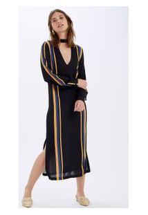 Vestido Listras Localizadas Est Listra Localizada Vertical Fundo Pre