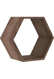 Nicho Hexagonal 400X346X180 Mm Rustico Movelbento Marrom - Marrom - Dafiti