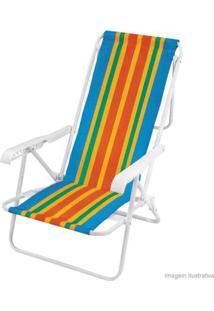 Cadeira De Praia 8 Posições Cor Sortida Aço Mor