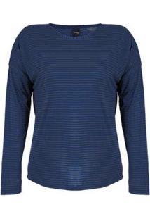 Blusa Plus Size Rovitex Premium Feminina - Feminino-Azul