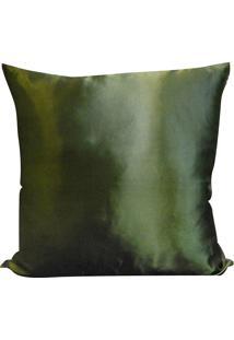 Capa Para Almofada Cetim Liso 45X45 - Perfil Matelados - Verde Grama