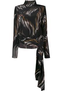 Givenchy Blusa De Seda Estampada - Preto
