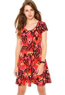 b71155e183f2 Dafiti. Vestido Vermelho Malwee Fashion Curto