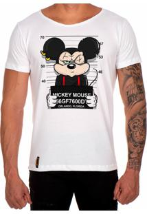 Camiseta Lucas Lunny T Shirt Gola Canoa Estampada Mickey