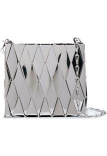 Paco Rabanne Metallic Tile Shoulder Bag - Prateado
