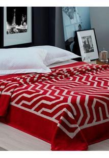 Cobertor Casal Corttex Vermelho