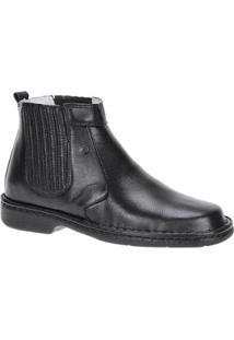 Bota Couro Urbana Boot Masculino - Masculino-Preto