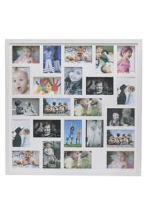 Painel Quadro Multifotos 23 Fotos 10X15 C/ Profundidade Moldura Caixa Branco