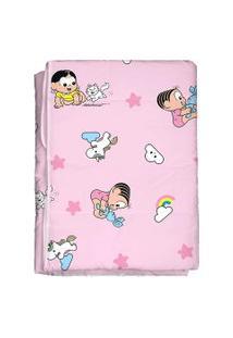 Edredom Bebê Feminino Turma Da Mônica Baby Rosa (85X130Cm) - Turma Da Mônica - Tamanho Único - Rosa