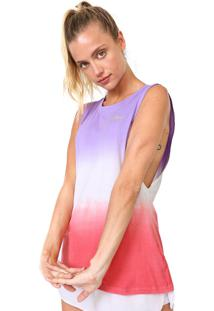 Regata Alto Giro Ultrafine Tie Dye Roxa/ Rosa