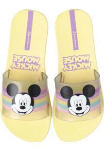 Chinelo Slide Disney Amarelo Amarelo