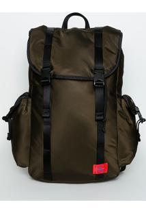 Mochila Com Fivelas - Verde Militar & Preta - 52X45Xcalvin Klein