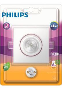 Spot De Embutir Quadrado Led 5W 2700K Amarelo Philips