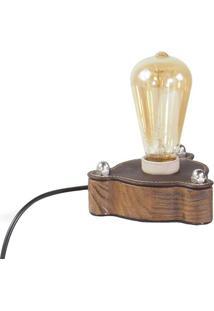 Luminaria De Mesa Harus Em Madeira Cor Rustic Brown 7 Cm (Alt) - 50314 Sun House