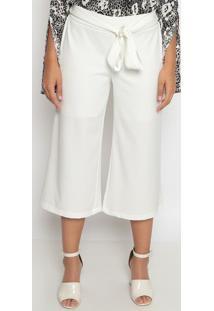 Calça Pantalona Lisa - Branca- Operateoperate