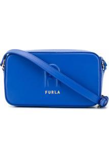 Furla Bolsa Estruturada Sleek - Azul