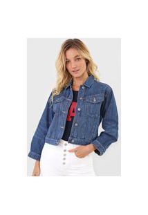 Jaqueta Jeans Gap Botões Azul