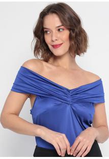 Body Ombro A Ombro Acetinado - Azul- Lança Perfumelança Perfume