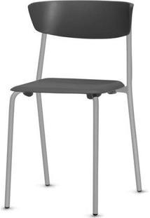 Cadeira Bit Assento Preto Base Cinza - 53663 - Sun House