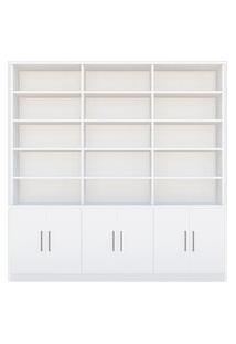 Estante De Livros 6 Portas 15 Prateleiras 1287 Branco M Foscarini