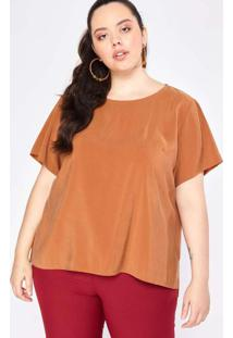 Blusa Almaria Plus Size Garage Lisa Dourado