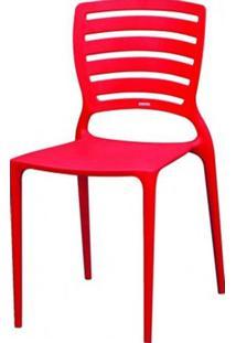 Cadeira Sofia Vazado Horizontal Polipropileno Vermelho 11069 Sun House